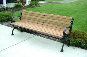 Kursi taman besi cor kayu jati
