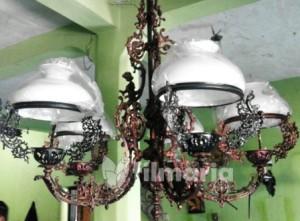 lampu gantung antik aluminium