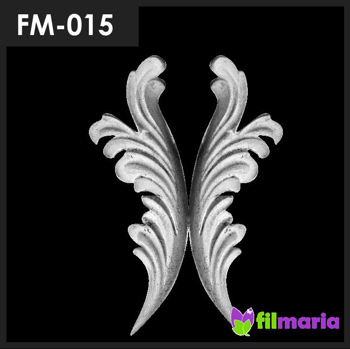 ornamen pagar motif flora 015