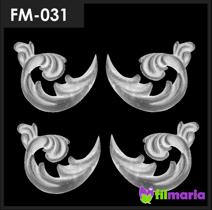ornamen pagar motif flora 031