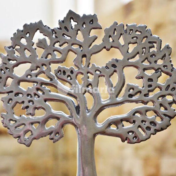 hiasan meja aluminium motif pohon