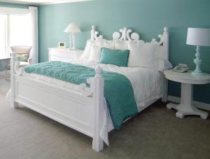 kamar tidur warna hijau