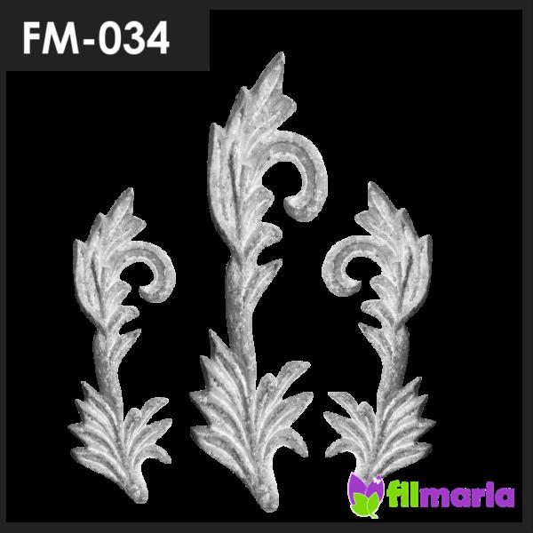 ornamen pagar motif flora 034