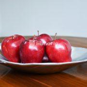 wadah buah motif daun