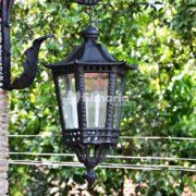 detail jasmine lampu dinding cast iron