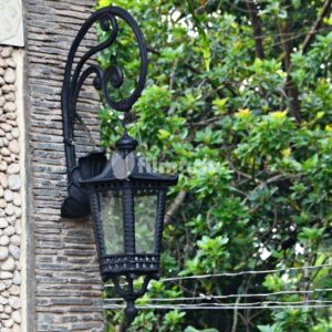 jasmine lampu dinding cast iron