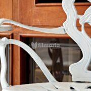 Detail handle corvus set meja kursi cast iron