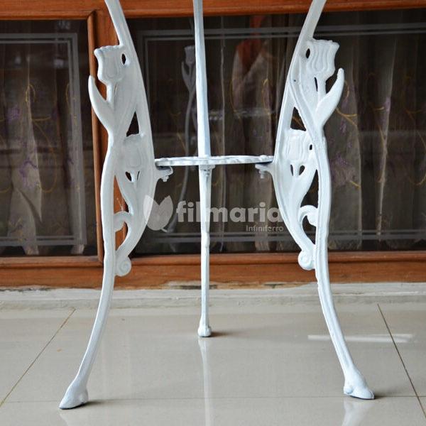 Detail kaki meja corvus set meja kursi cast ironDetail kaki meja corvus set meja kursi cast iron
