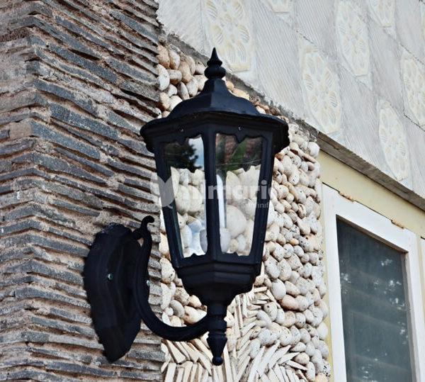 lotus lampu dinding cast iron