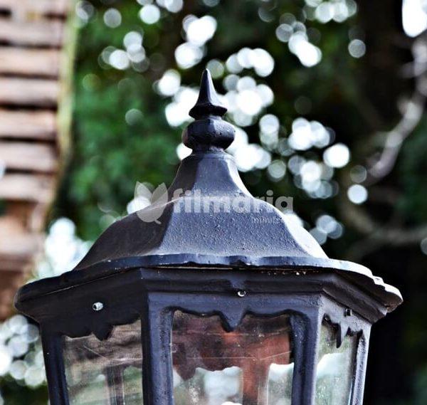 detail atas lotus lampu dinding cast iron