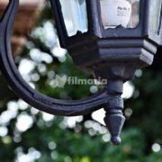 detail lotus lampu dinding cast iron