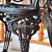 detail ornamen kursi aquila set meja kursi cast iron