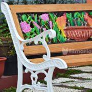 detail motif columba kursi taman panjang