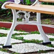 detail kaki kursi columba kursi taman panjang