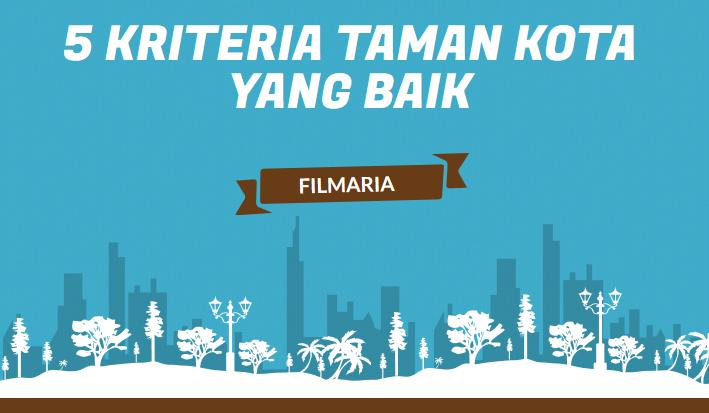 5 Kriteria Taman Kota yang Baik
